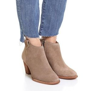 Madewell Natural The Brook Suede Bootie